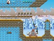 catapulta de pinguinos