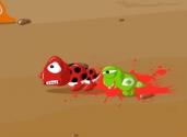 aplastar gusanos