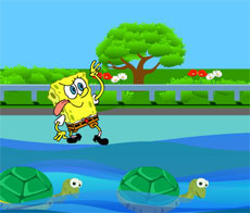 cruzar el rio bob la esponja